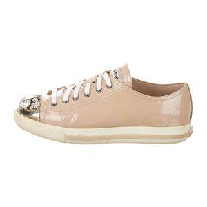 Miu Miu Patent leather embellished sneakers